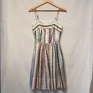 Anthro Girls From Savoy Silk Polkadot Dress Sz 4